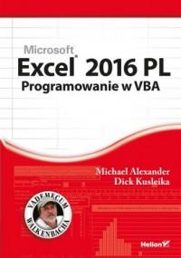 Excel 2016 PL. Programowanie w - okładka książki