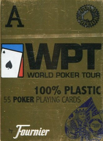 Fournier WPT 100% plastic złota - zdjęcie zabawki, gry