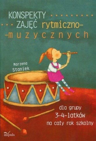 Konspekty zajęć rytmiczno-muzycznych - okładka książki