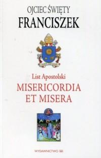List Apostolski Misericordia et misera - okładka książki