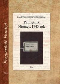 Pamiętnik. Niemcy, 1945 rok. Przywrócić - okładka książki