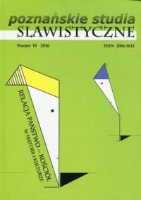 Poznańskie studia slawistyczne nr 10/2016 - okładka książki
