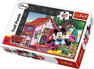 Miki i Minnie w ogrodzie (puzzle - zdjęcie zabawki, gry