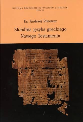 Składnia języka greckiego Nowego - okładka książki