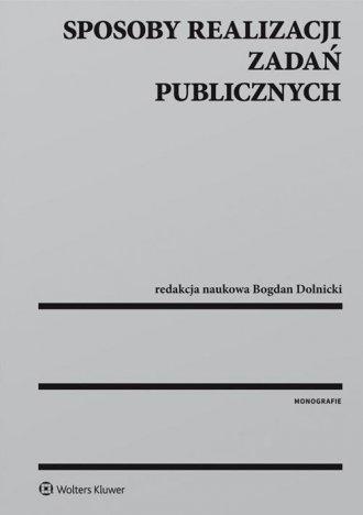 Sposoby realizacji zadań publicznych - okładka książki