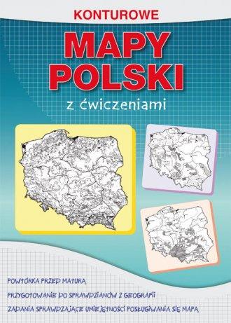 Konturowe mapy Polski z ćwiczeniami - okładka podręcznika