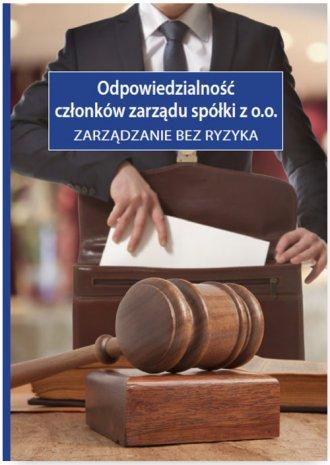 Odpowiedzialność członków zarządu - okładka książki