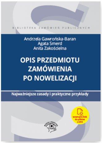 Opis przedmiotu zamówienia po nowelizacji. - okładka książki