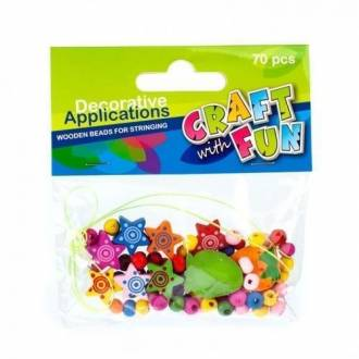 Ozdoba dekoracyjna drewniane koraliki - zdjęcie zabawki, gry