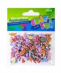 Ozdoba dekoracyjna plastikowe koraliki 25g - zdjęcie zabawki, gry