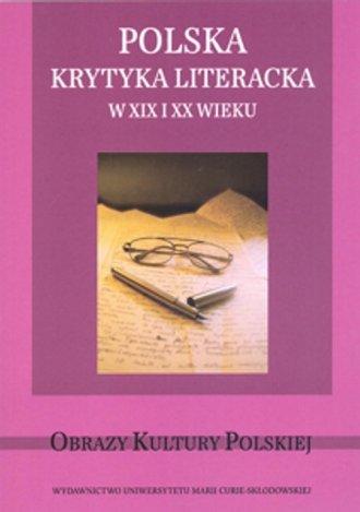 Polska krytyka literacka w XIX - okładka książki