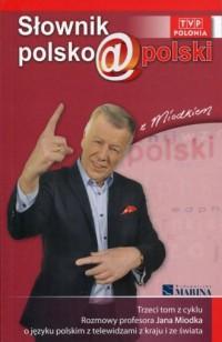 Słownik polsko@polski z Miodkiem. - okładka książki