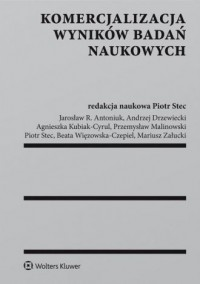 Komercjalizacja wyników badań naukowych - okładka książki