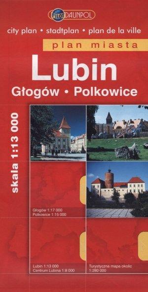 Lubin. Plan miasta w skali 1 13 - okładka książki
