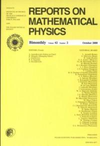 Reports on Mathematical Physics 62/2/2008 - okładka książki