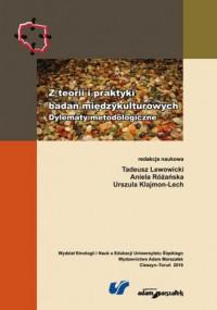 Z teorii i praktyki badań międzykulturowych. - okładka książki