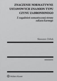 Znaczenie normatywne ustawowych - okładka książki