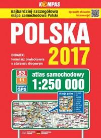 Atlas samochodowy polski 2017 kompas - zdjęcie reprintu, mapy