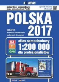 Atlas samochodowy polski dla profesjonalistów - zdjęcie reprintu, mapy