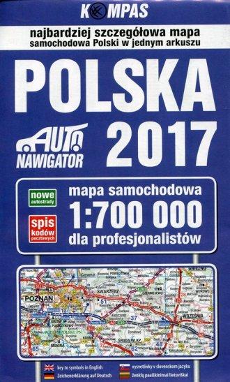 Mapa samochodowa polski 2017 dla - zdjęcie reprintu, mapy