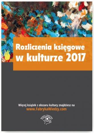 Rozliczenia księgowe w kulturze - okładka książki