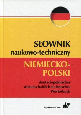 Słownik naukowo-techniczny niemiecko-polski - okładka podręcznika