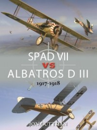 SPAD VII vs ALBATROS D III 1917-1918 - okładka książki