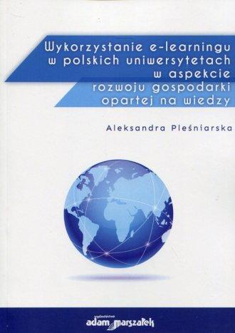 Wykorzystanie e-learningu w polskich - okładka książki