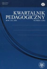Kwartalnik Pedagogiczny 20163 - okładka książki
