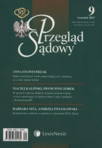 Przegląd Sądowy 9/2013 - okładka książki