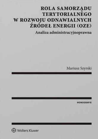 Rola samorządu terytorialnego w - okładka książki