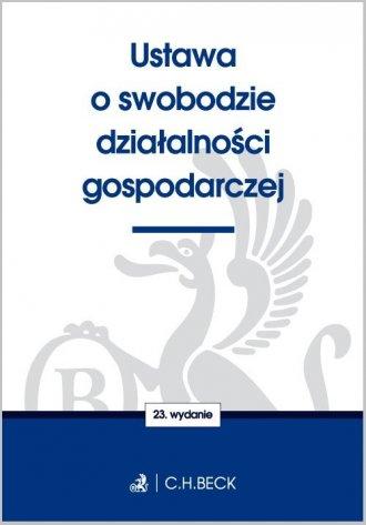 Ustawa o swobodzie działalności - okładka książki