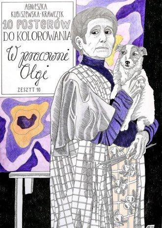 10 Posterów do kolorowania. W pracowni - okładka książki