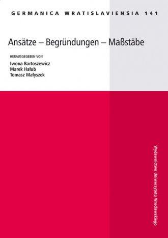 Germanica Wratislaviensia 141. - okładka książki