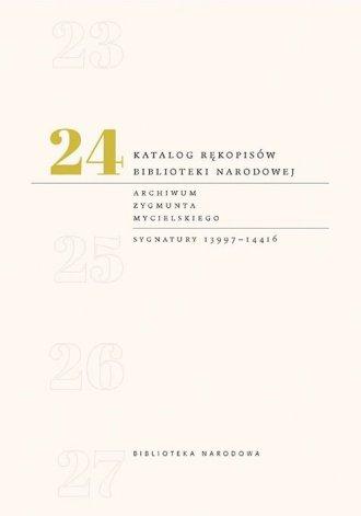 Katalog rękopisów Biblioteki Narodowej. - okładka książki
