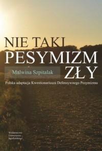 Nie taki pesymizm zły. Polska adaptacja - okładka książki