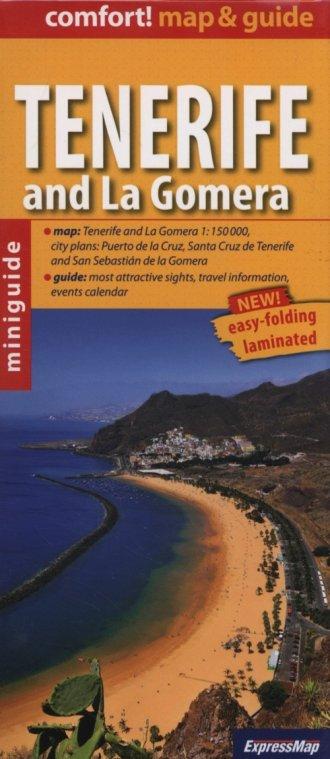 Tenerife and La Gomera map & guide - okładka książki