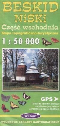 Beskid Niski część wschodnia mapa 1:50 000 WZKart - okładka książki
