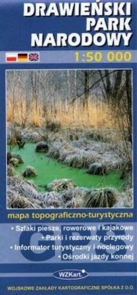 Drawieński Park Narodowy mapa 1:50 000 - okładka książki