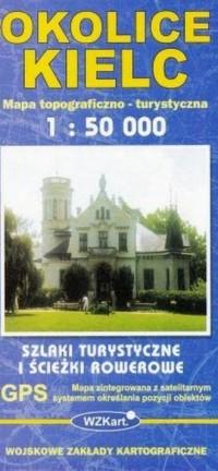 Okolice Kielc mapa 1:50 000 - okładka książki