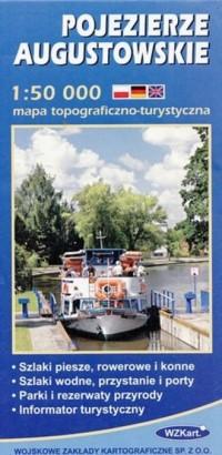 Pojezierze Augustowskie 1:50 000 - okładka książki