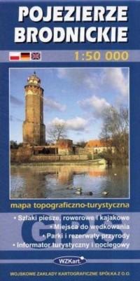 Pojezierze Brodnickie 1:50 000 - okładka książki