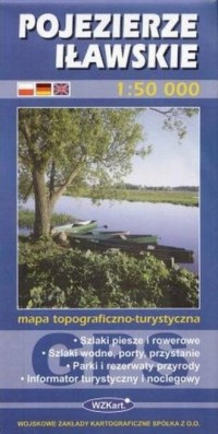 Pojezierze Iławskie 1:50 000 - okładka książki