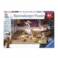 Puzzle 2X24. Sekretne życie zwierząt domowych - okładka książki