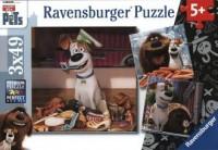 Puzzle 3X49. Sekretne życie zwierząt domowych - zdjęcie zabawki, gry