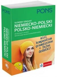 Słownik szkolny niemiecko-polskipolsko-niemiecki - okładka książki