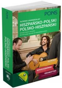 Słownik uniwersalny hiszpańsko-polskipolsko-hiszpański. - okładka książki