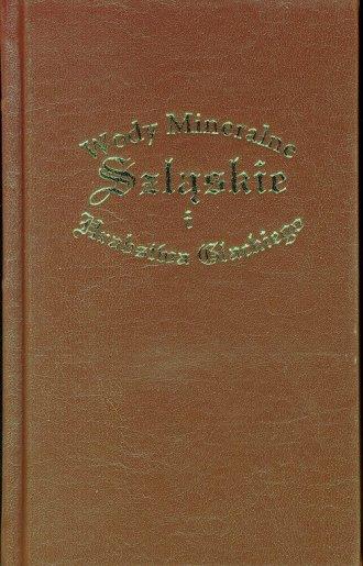 Wody Mineralne Szląskie i Hrabstwa - okładka książki
