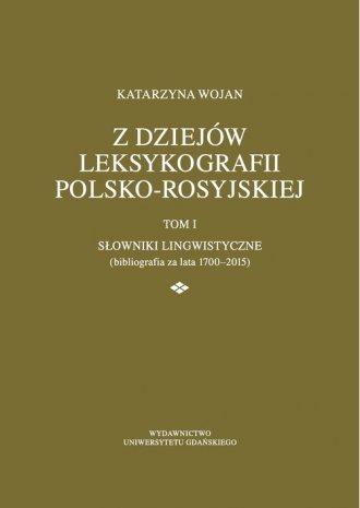 Z dziejów leksykografii polsko-rosyjskiej - okładka książki