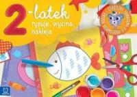 2-latek rysuje, wycina i nakleja. - okładka podręcznika